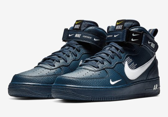 The Nike Air Force 1 Mid Utility Is Coming Soon In Navy