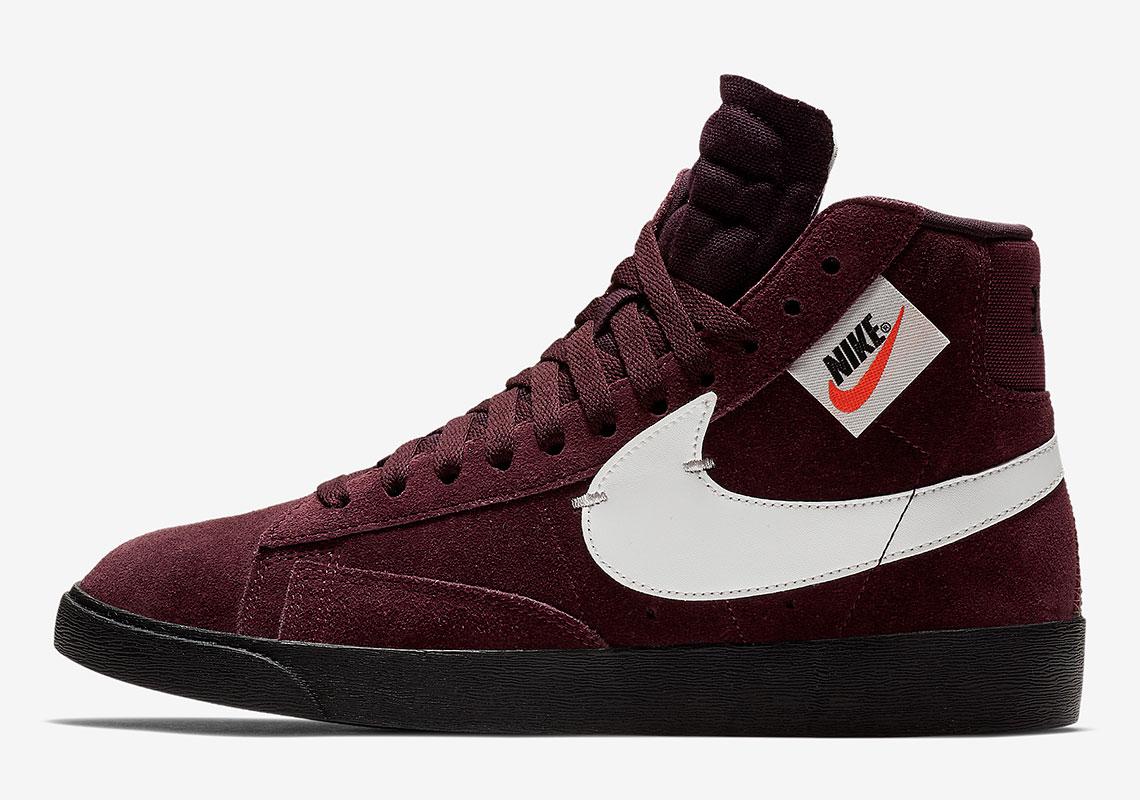 size 40 8b688 0a800 The Nike Blazer Mid Rebel Drops In A Dark Burgundy