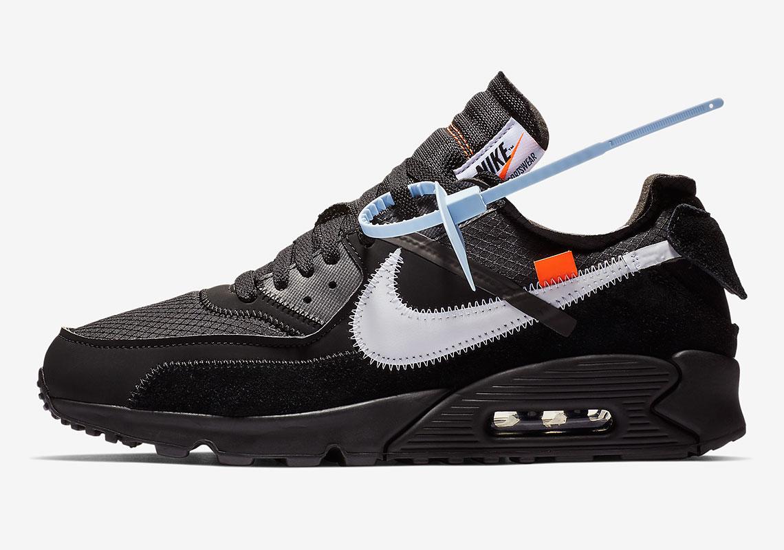 purchase cheap 9fea5 69e5e Off-White Nike Air Max 90 Black Official Release Date ...