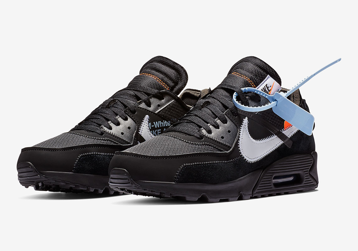 purchase cheap dc0ba 35a27 Off-White Nike Air Max 90 Black Official Release Date ...