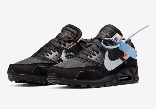 The Off-White x Nike Air Max 90 In Black Is Releasing February 7th