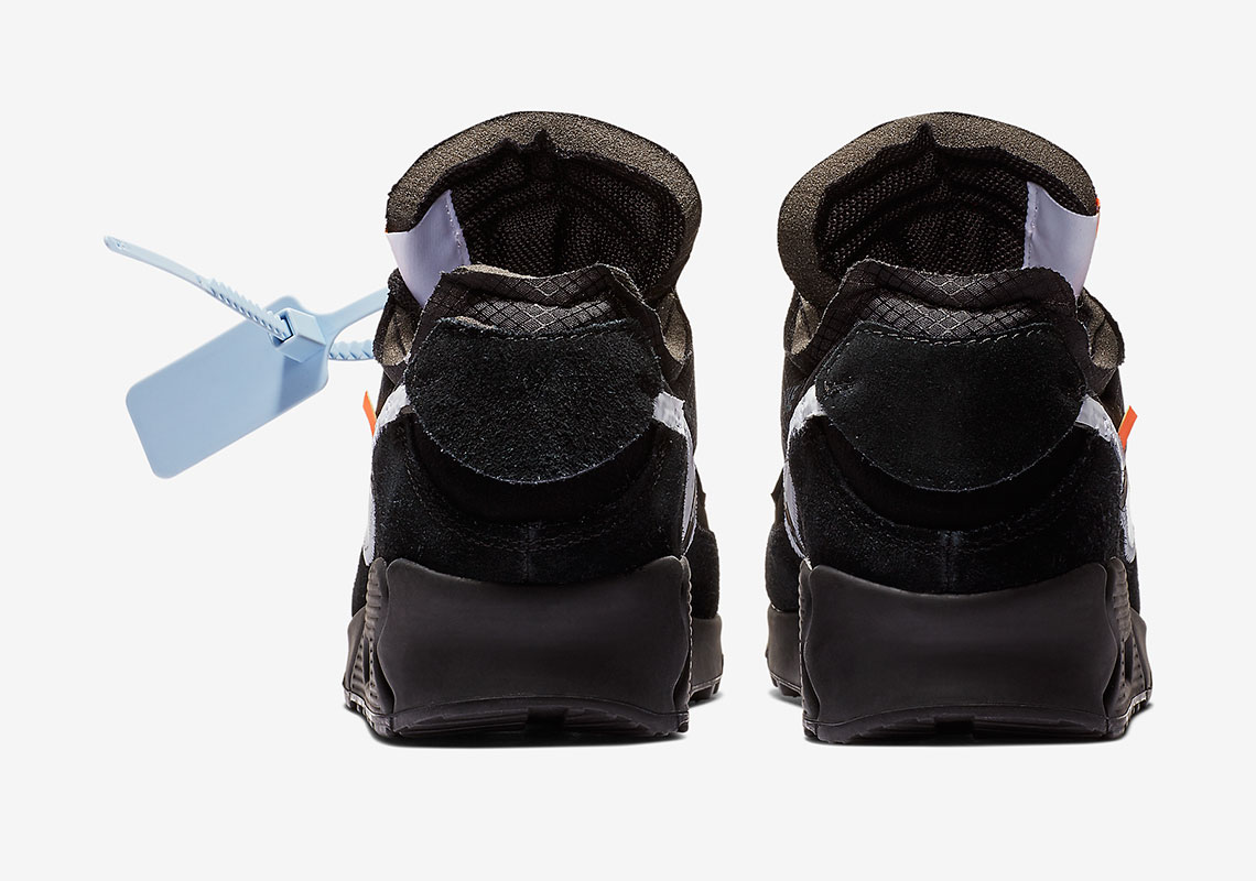 reputable site e7919 7f990 Off-White Nike Air Max 90 Black Official Release Date   SneakerNews.com