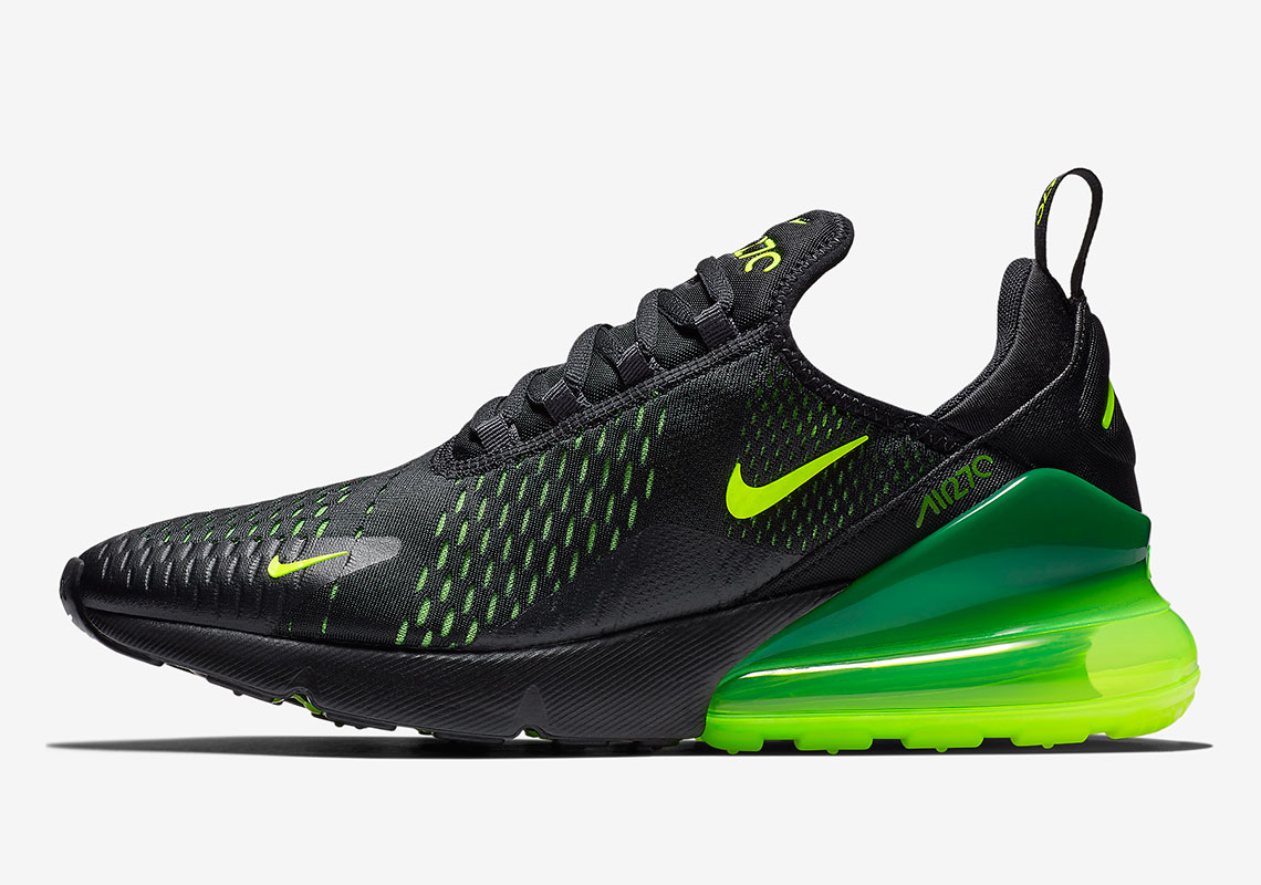 The Nike Air Max 270 Brings The Slime With A Black And Volt Colorway e964936a3a