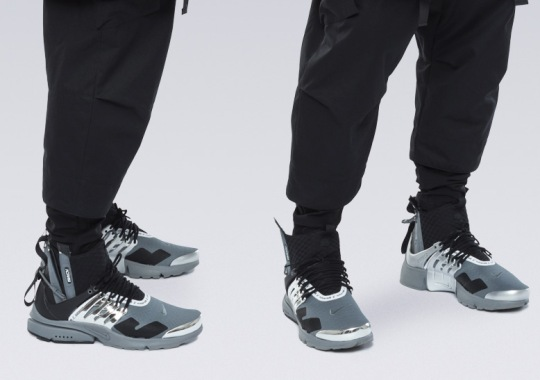 ACRONYM Reveals A Never Before Seen Nike Presto Mid In Silver And Black