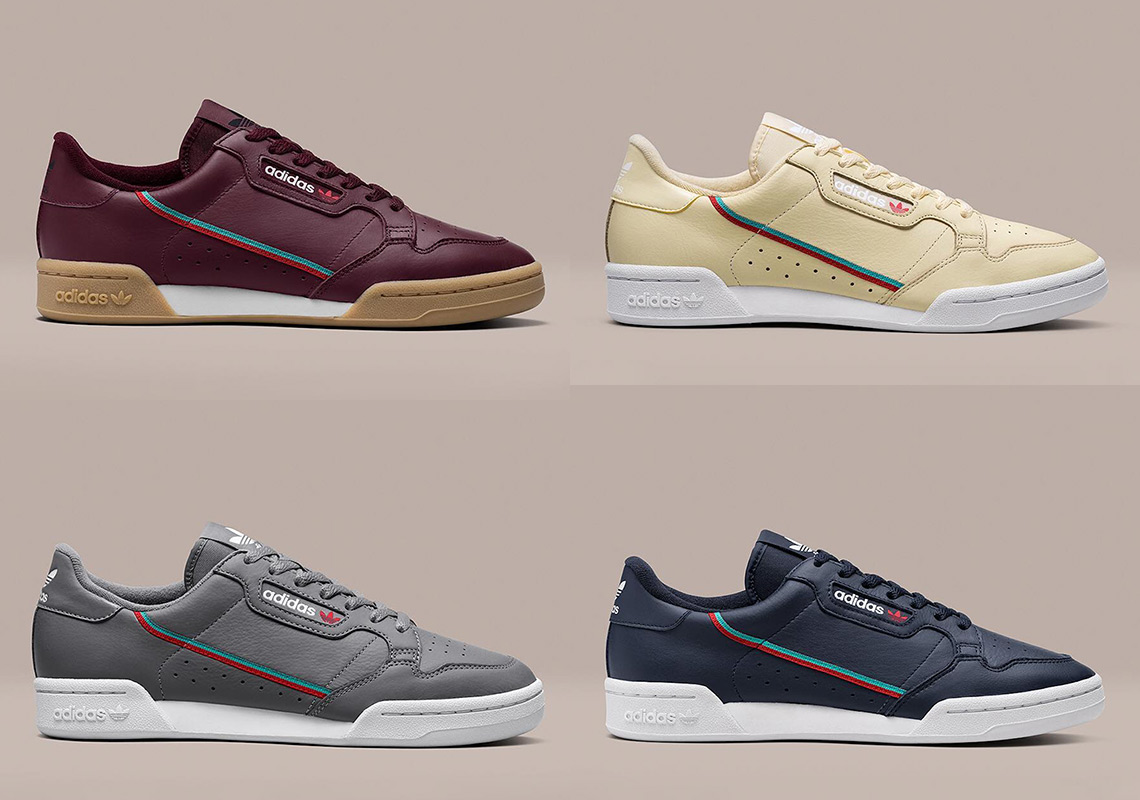 buy online d6511 9c687 The adidas Continental 80 Returns On November 4th In Four New Colorways