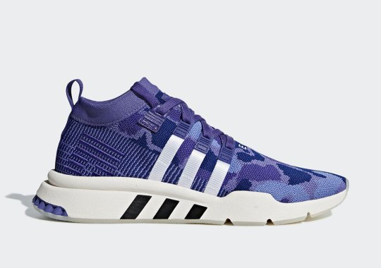 The adidas EQT Support Mid ADV Arrives In A Purple Camo