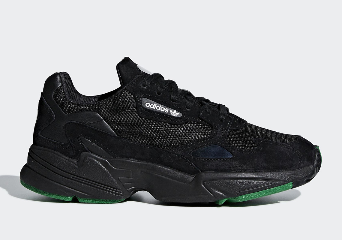 adidas Dresses The Falcon Up In Core Black And Green ce691a54c