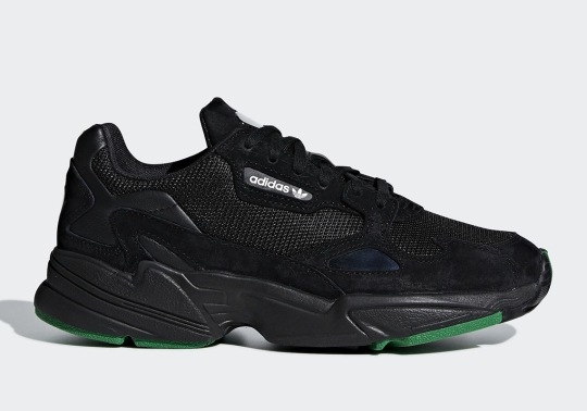 adidas Dresses The Falcon Up In Core Black And Green