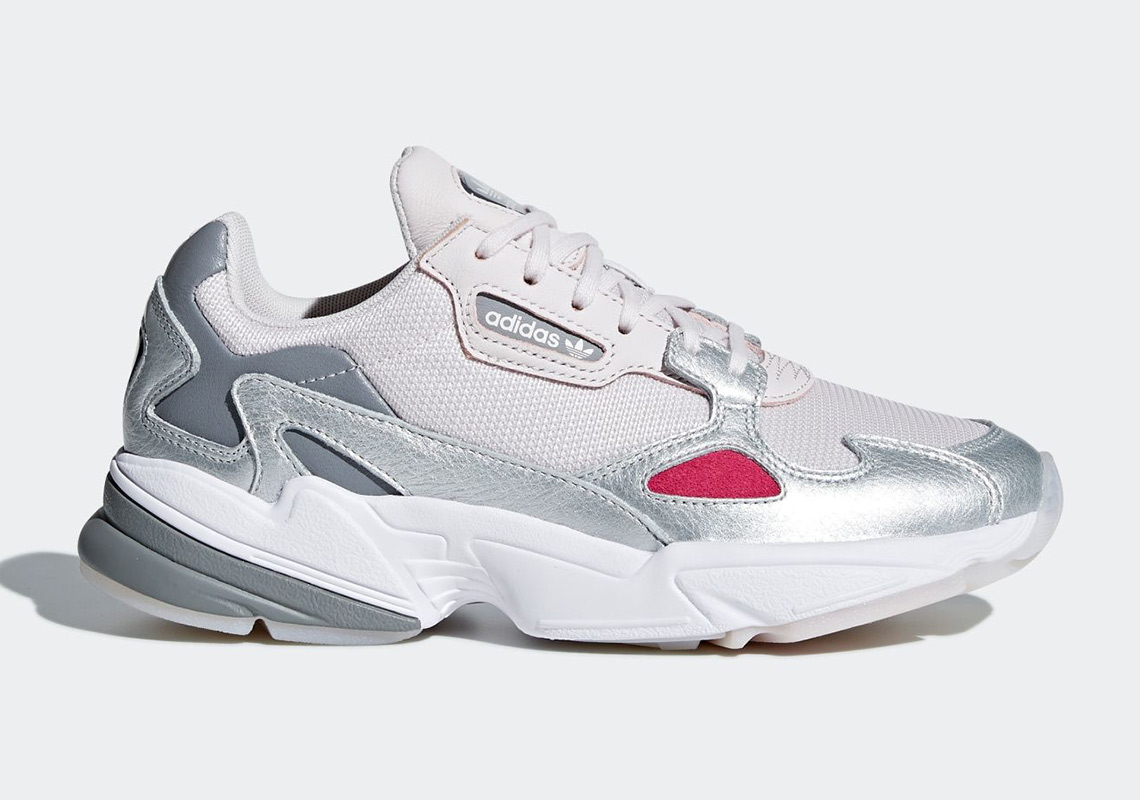 buy popular f5a9c 02300 The Ever Popular adidas Falcon For Women Is Releasing In Silver