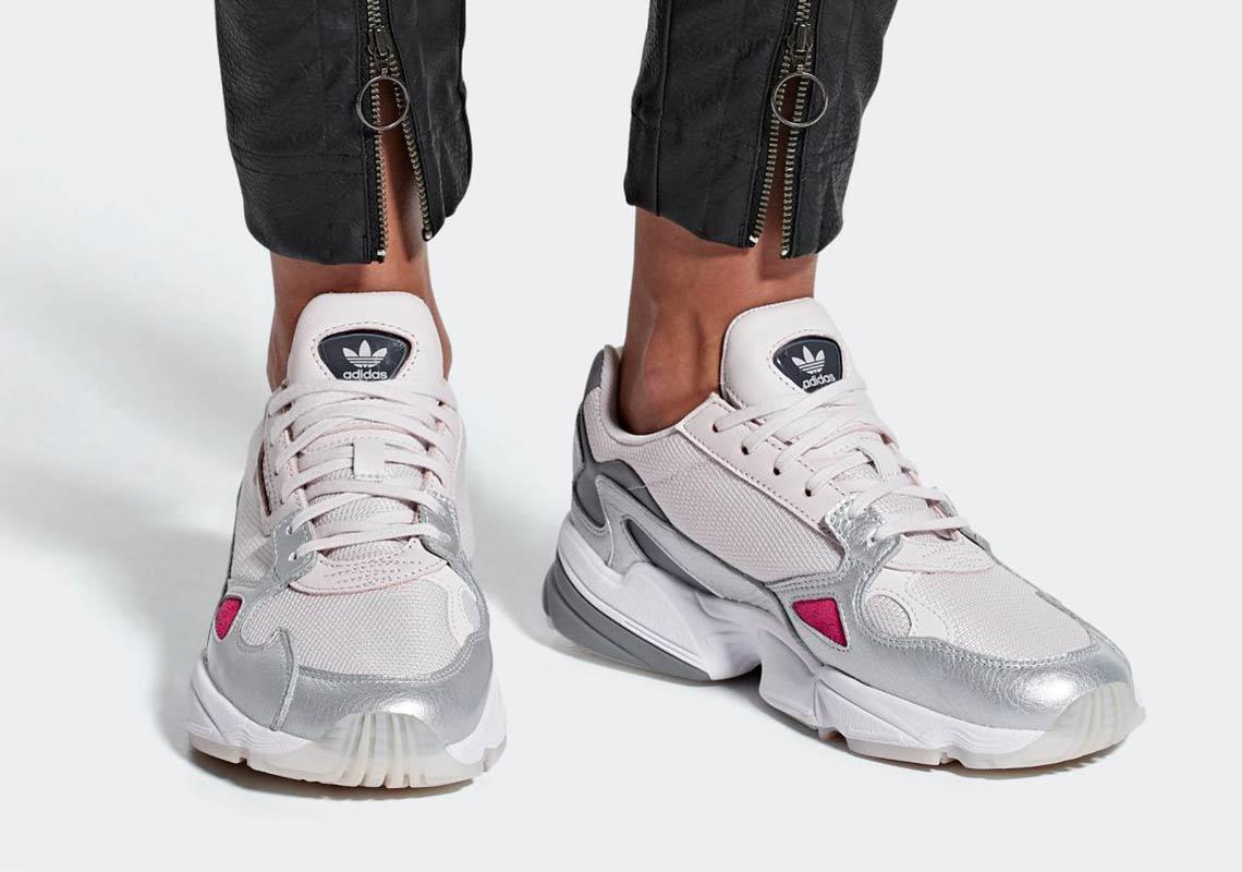 adidas Falcon Women's Silver + Pink