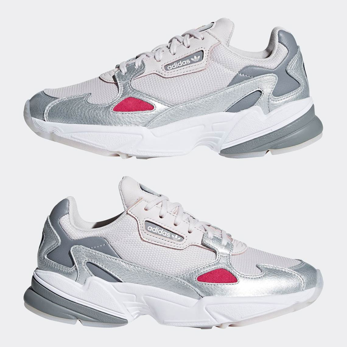 Yeezy Boost Supply >> adidas Falcon Women's Silver + Pink Release Info   SneakerNews.com