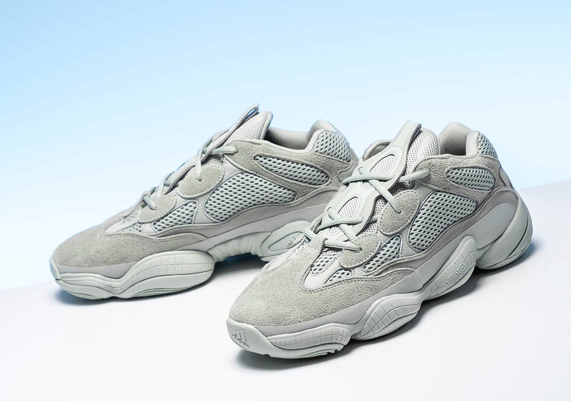 new style cb2a1 4fb54 adidas Yeezy 500 Salt EE7287 First Look | SneakerNews.com