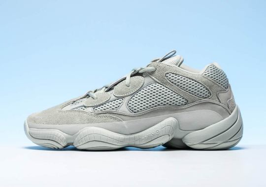 """A Detailed Look At The adidas Yeezy 500 In """"Salt"""""""