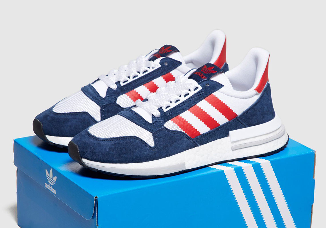 sports shoes 34ad6 0feeb adidas ZX 500 RM Navy Red | SneakerNews.com