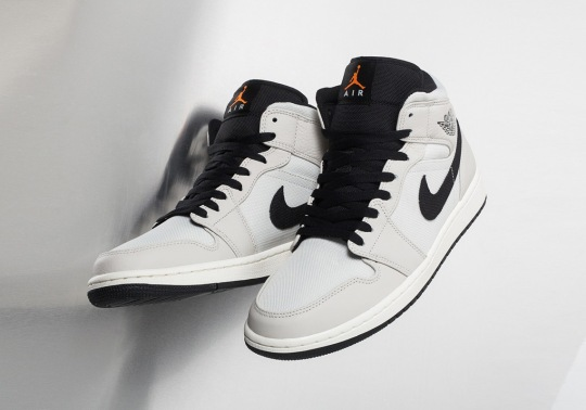 This Air Jordan 1 Mid SE Uses Canvas Uppers