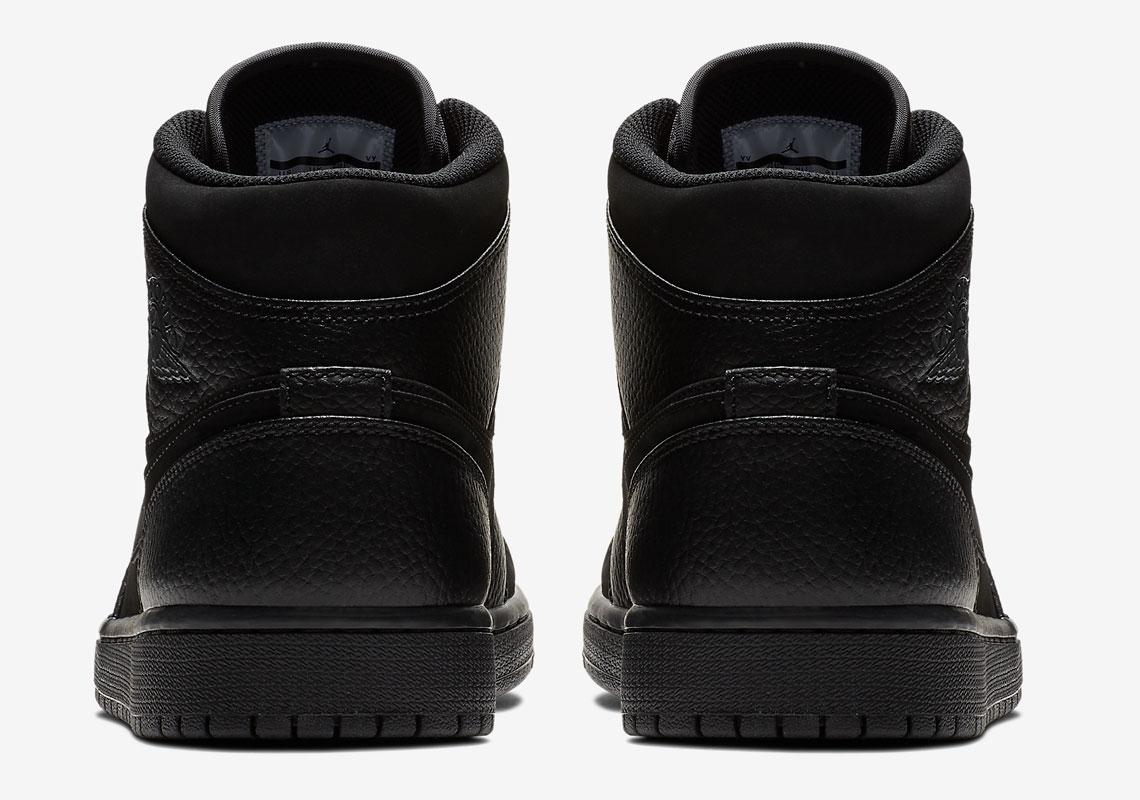 lowest price c60c0 fd9dc Air Jordan 1 Mid Triple Black 554724-064 Release Info   SneakerNews.com