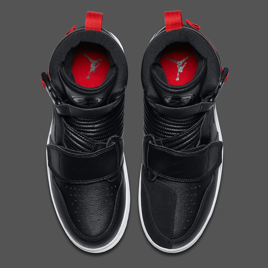purchase cheap sports shoes new arrive Air Jordan 1 Moto Black Red AT3146-001 | SneakerNews.com