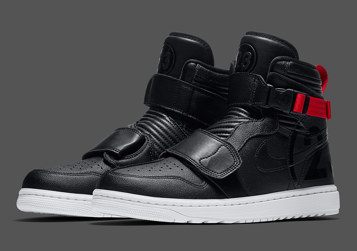 wholesale dealer cb7e7 9e641 The Motorsports-Inspired Air Jordan 1 Appears In Black And Red