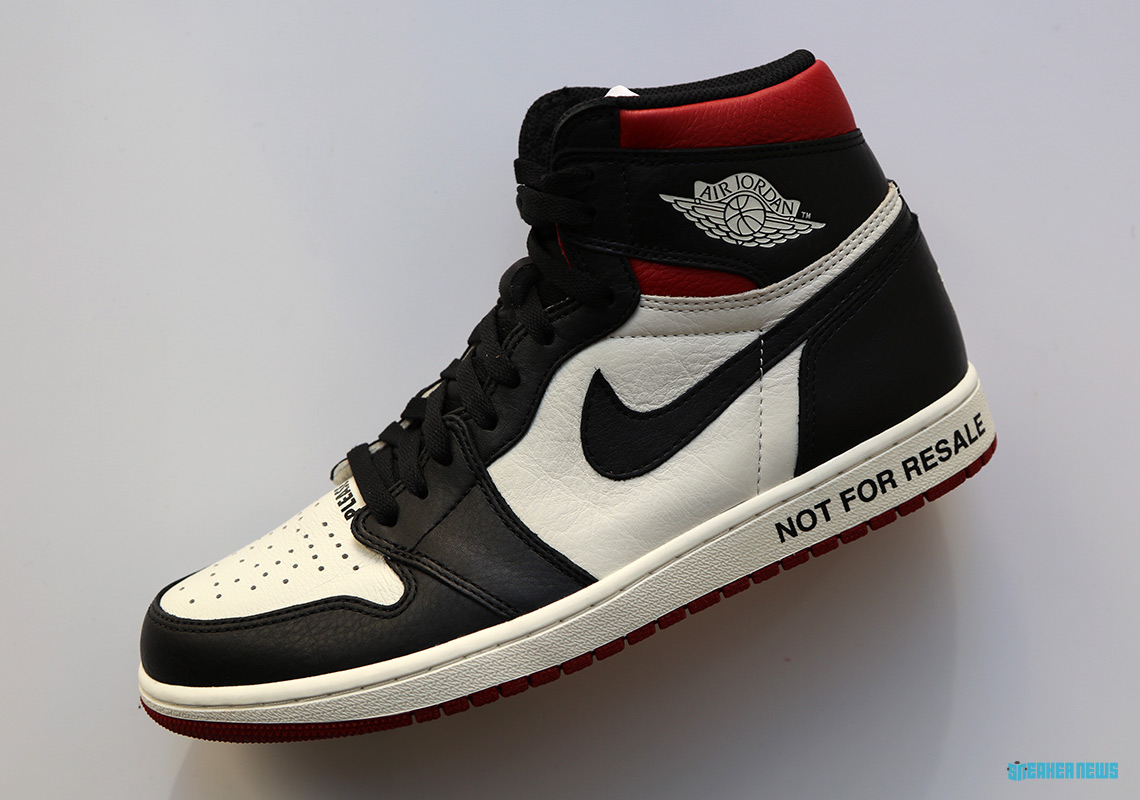 "newest 97947 d5b3e Best Look Yet At The ""Not For Resale"" Air Jordan 1s"