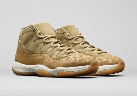 "Air Jordan 11 ""Olive Lux"" Headlines Women's Holiday Collection"