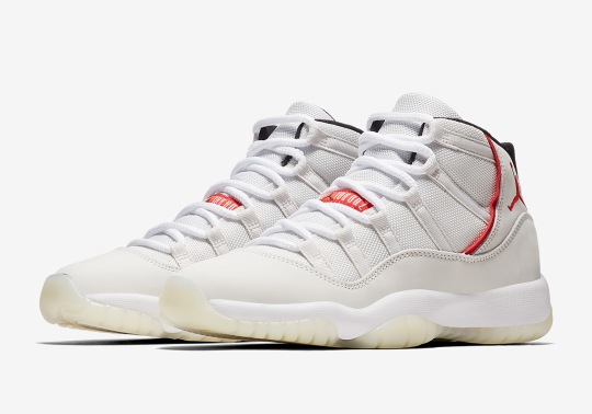 "The Air Jordan 11 ""Platinum Tint"" Is Releasing In Grade School Sizes"