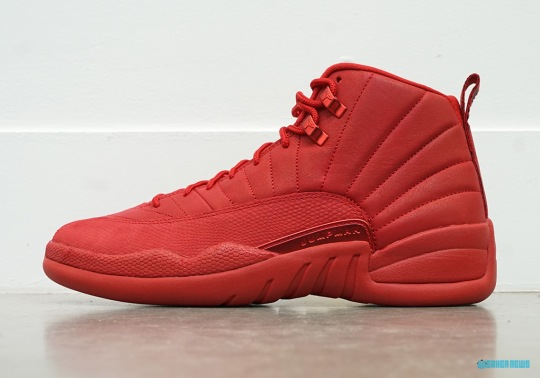 The Air Jordan 12 Arrives In A Full Gym Red Colorway For Black Friday