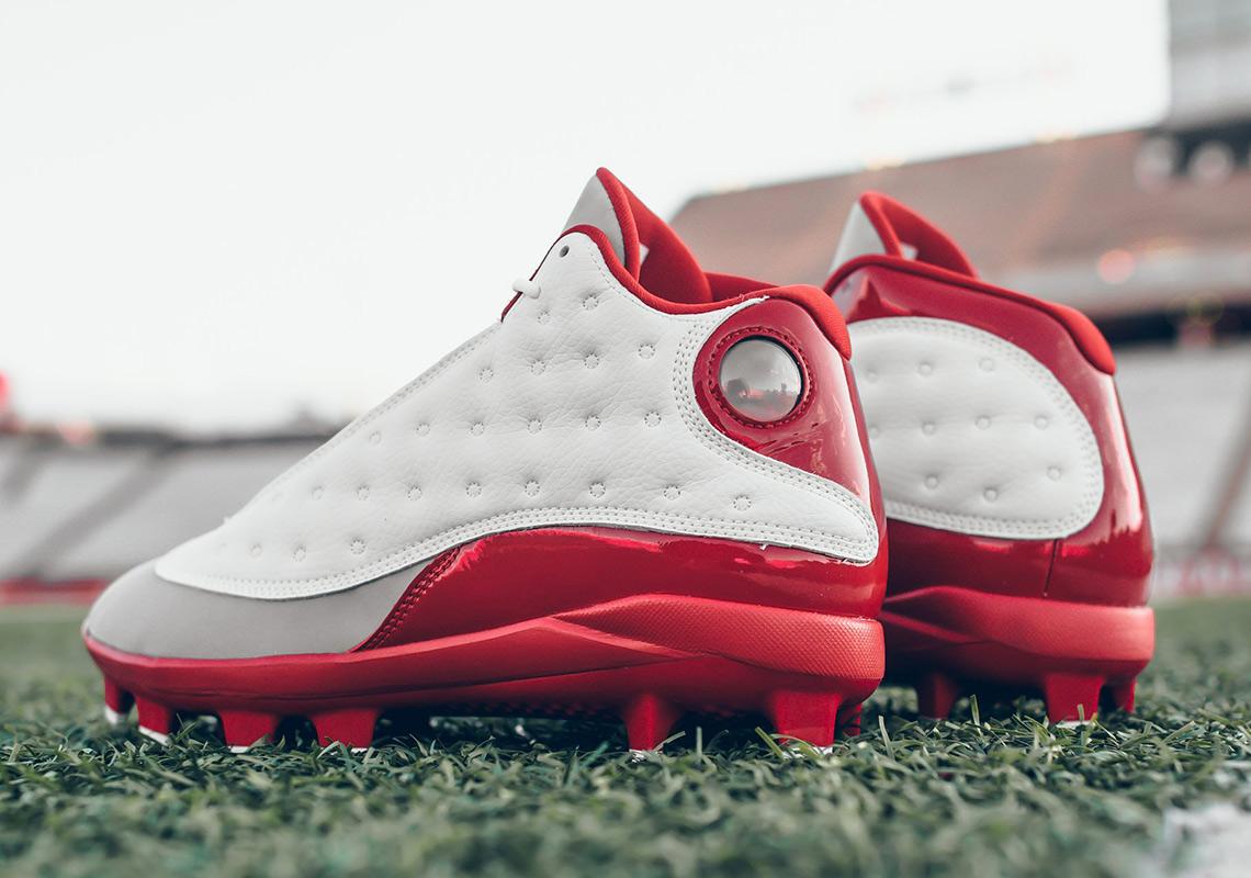 Air Jordan 13 Grey Toe Football Cleat