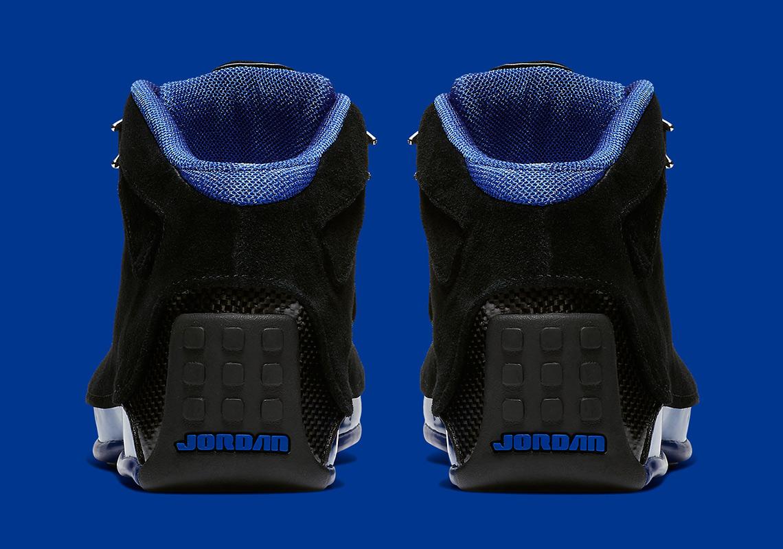 buy online be9d9 b8e89 Jordan 18 Black Royal Blue Release Info AA2494-007  SneakerN