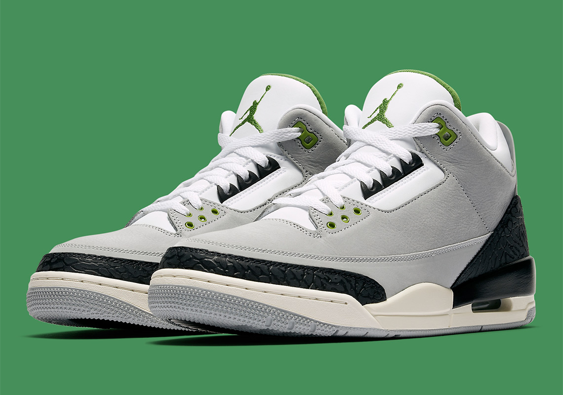 "d2b1828fae0 Air Jordan 3 ""Chlorophyll"" Is Inspired By The Nike Air Trainer 1"