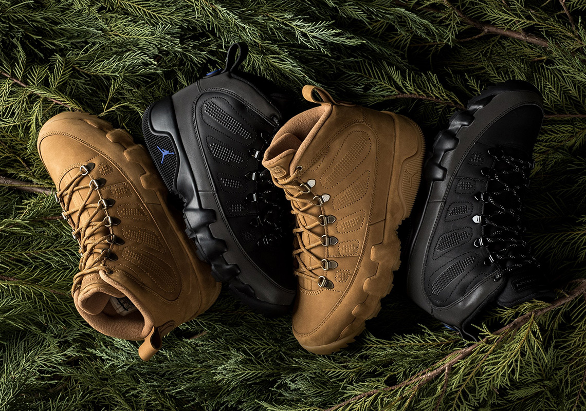 "820810c0259c Where To Buy The Air Jordan 9 NRG Boot ""Wheat"" And ""Black Royal"""