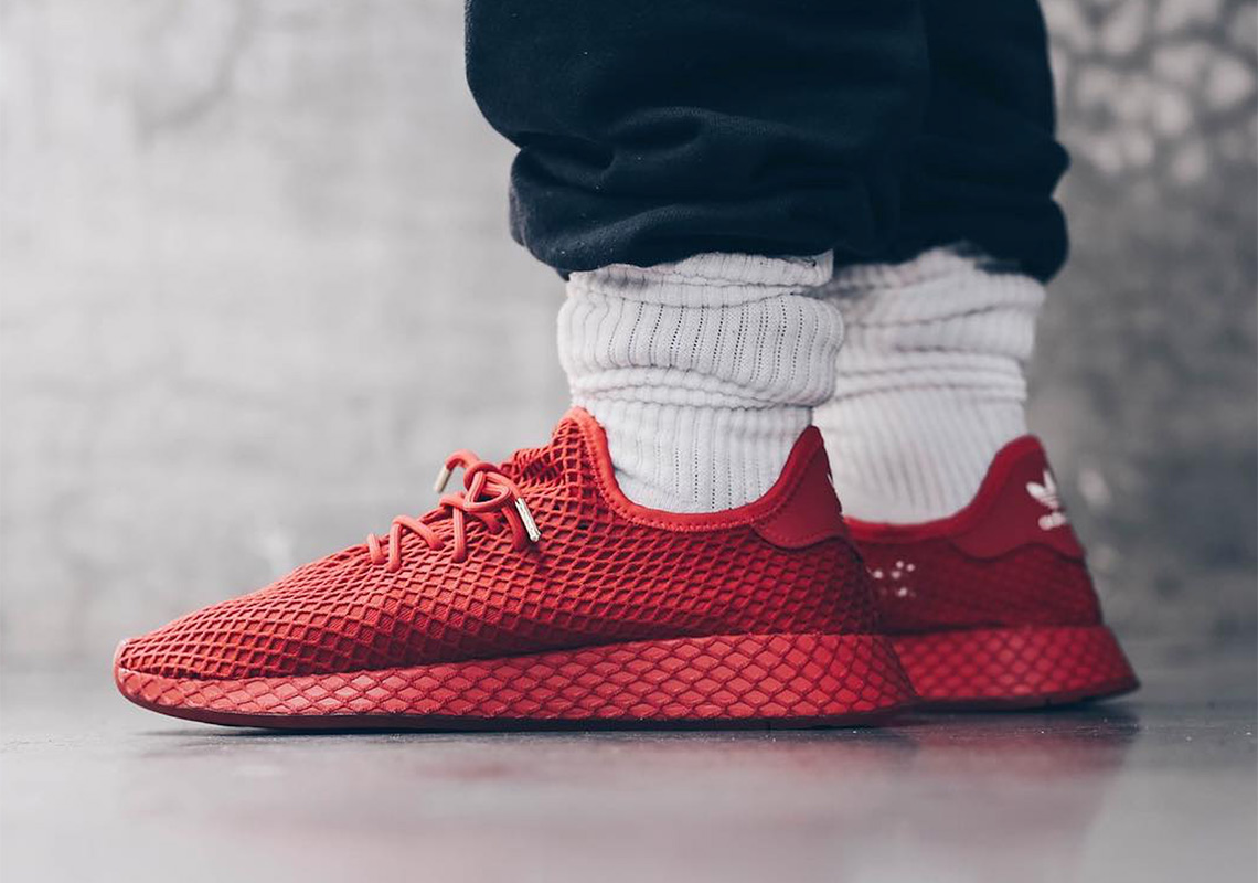 super popular 365be a94d6 atmos Collaborates With adidas For An All-Red Deerupt