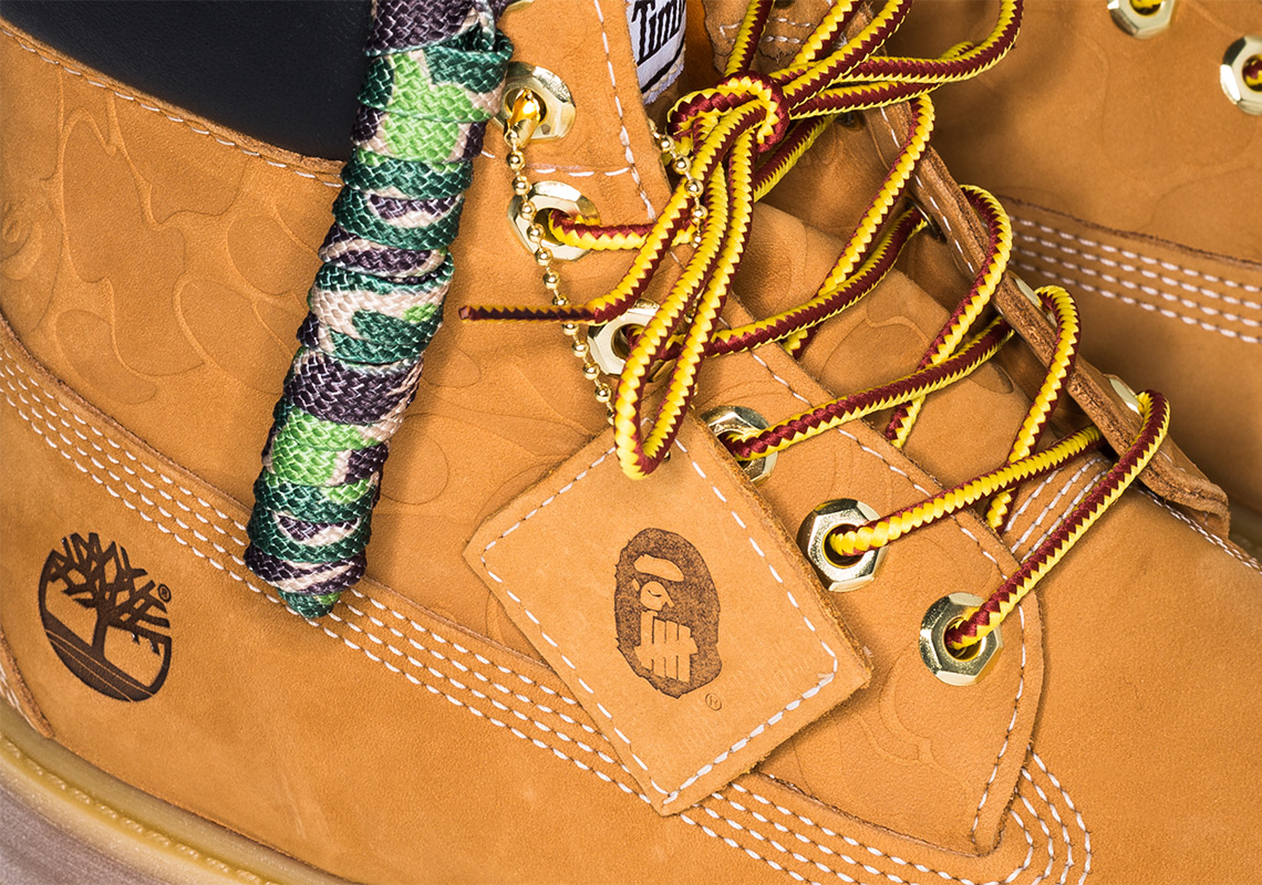 7e7e6302ddd BAPE And UNDEFEATED Add A Twist To The Timberland 6″ Classic Boot