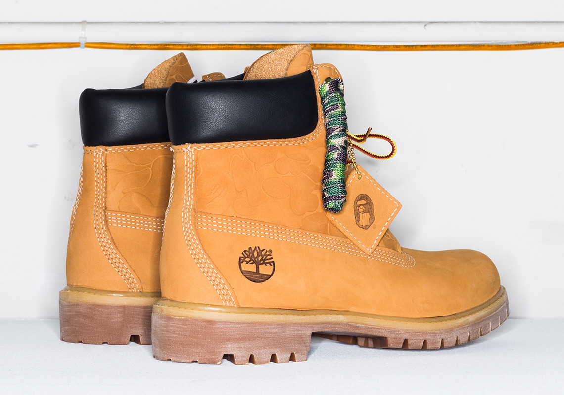 e9858b1a55a BAPE Undefeated Timberland 6 Inch Boots