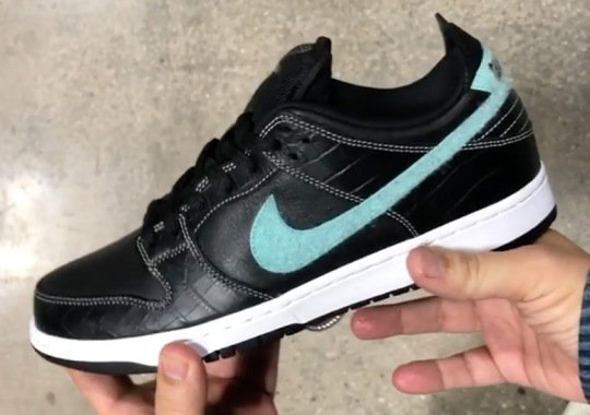 "First Look At The ""Black Diamond"" SB Dunk By Diamond Supply Co."