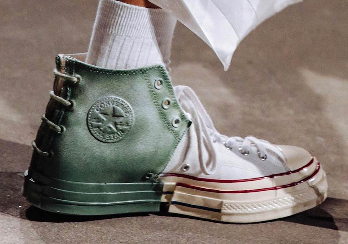 aab23c29210f Feng Chen Wang Debuts Wildly Deconstructed Converse Chuck Taylors At  Shanghai Runway Show