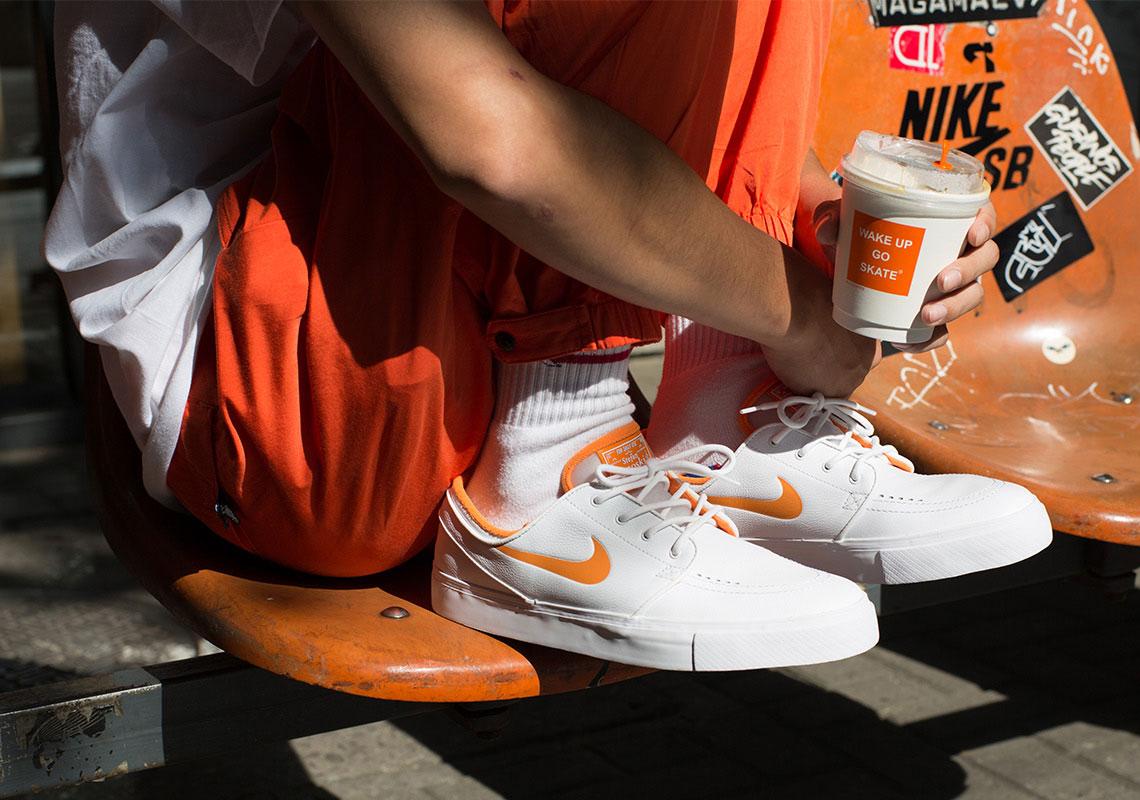 Carretilla Juramento Completo  FLY Nike SB Stefan Janoski White Orange | SneakerNews.com