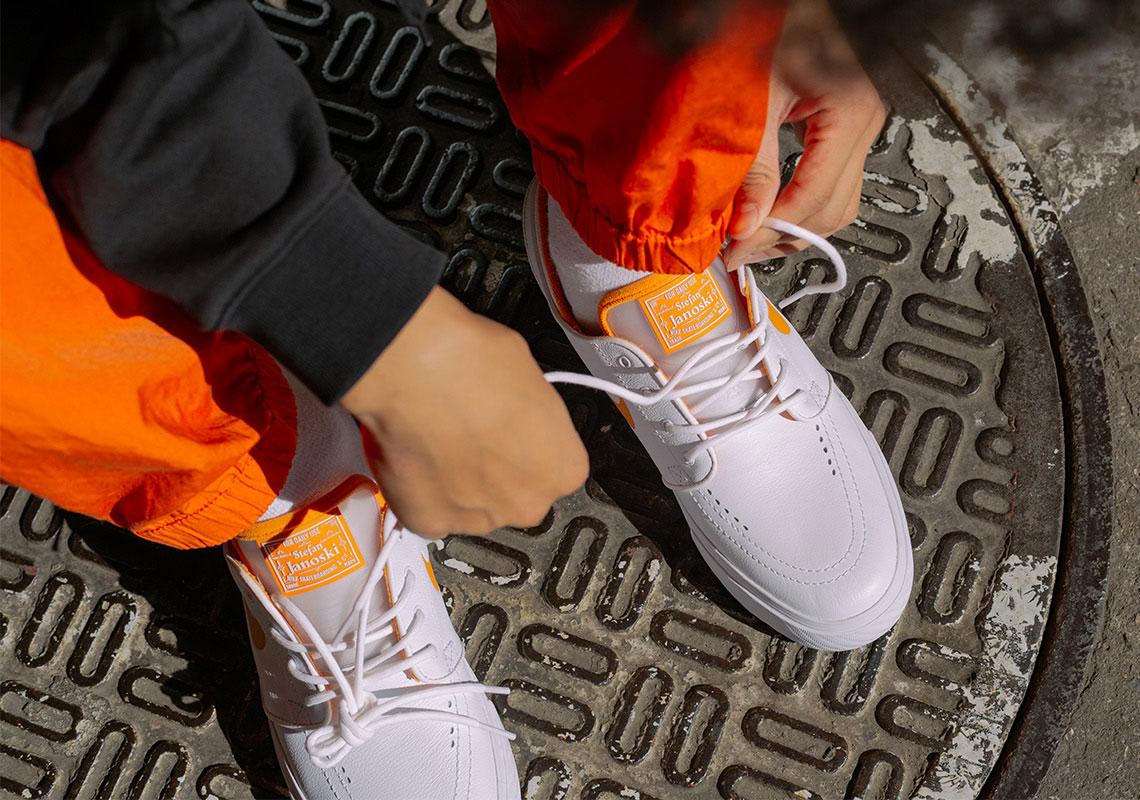 4808951a9946 FLY Nike SB Stefan Janoski White Orange