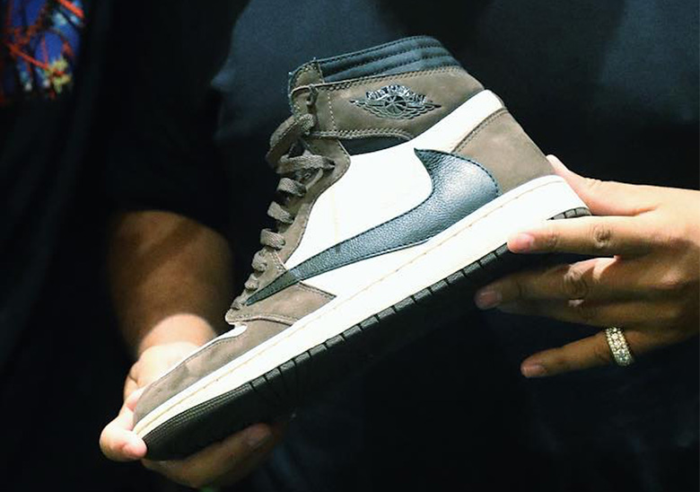 9f3f79e3c24 Travis Scott Reveals Air Jordan 1 Collaboration With Backwards Swoosh