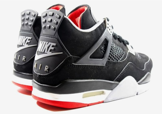 """The Air Jordan 4 """"Bred"""" With Nike Air Has A Release Date"""