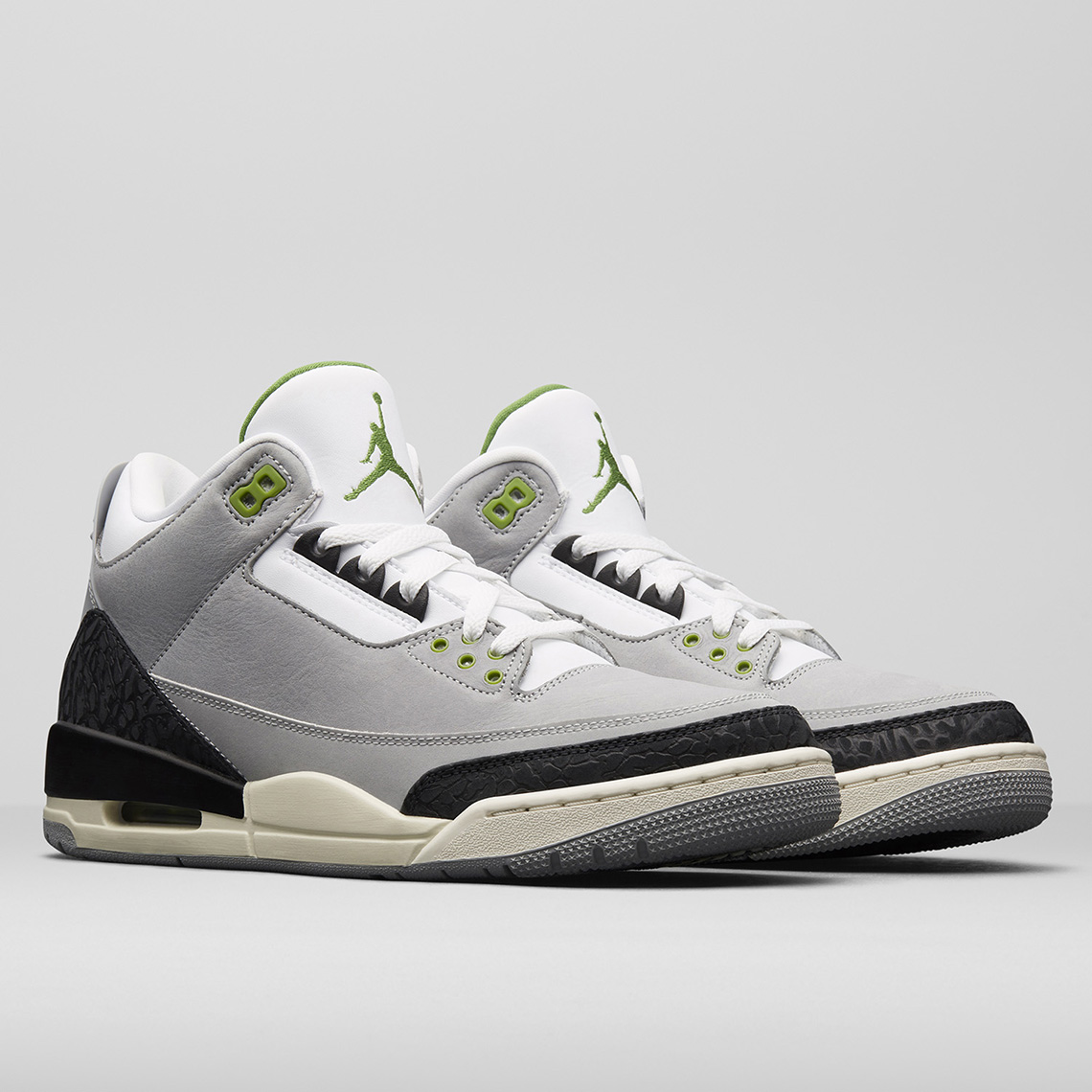 premium selection 1b467 83b73 Air Jordan 3 Tinker Store List Release Date  November 10th, 2018  190.  Color  Light Smoke Grey Chlorophyll-Black-White-Sail