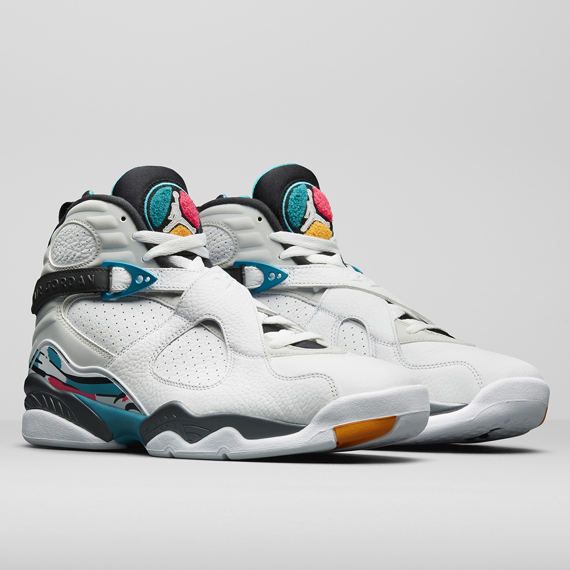 "dff6a483a2b Air Jordan 8 Retro ""South Beach"" Air Jordan 8 South Beach Store List  Release Date: October 13th, 2018 $190. Color: White/White-Turbo Green"
