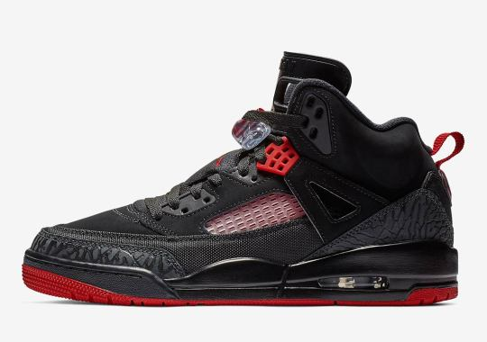 A Classic Black And Gym Red Combo Hits The Jordan Spiz'ike