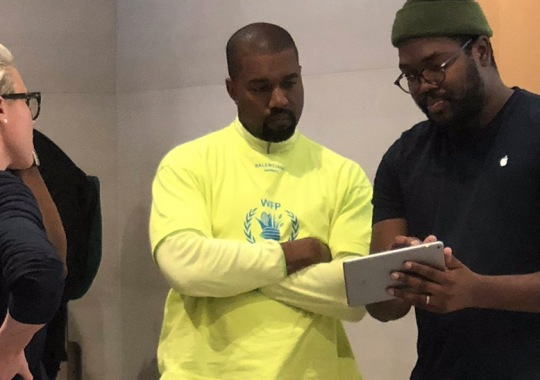 Kanye West Spotted In The UA Forge 96 Chunky Shoe