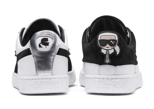 Karl Lagerfeld's Puma Suede Collaboration Inspired By His Signature Sunglasses And Suits
