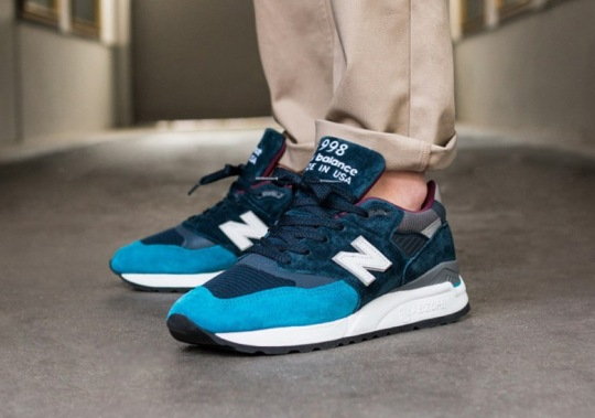 The New Balance 998 Made In USA Is Releasing In A Crisp Teal And Maroon Colorway