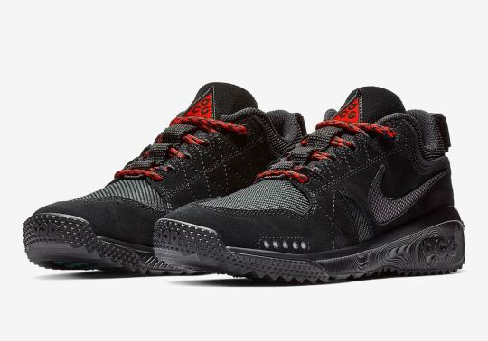 "The Nike ACG Dog Mountain Arrives In ""Triple Black"" With Red Laces"