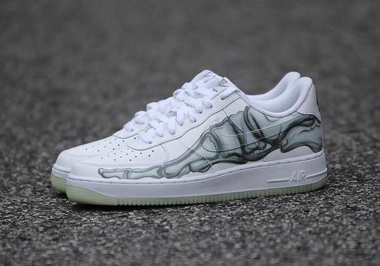The Air Force 1 Low Gets Spooky Skeleton Embellishments