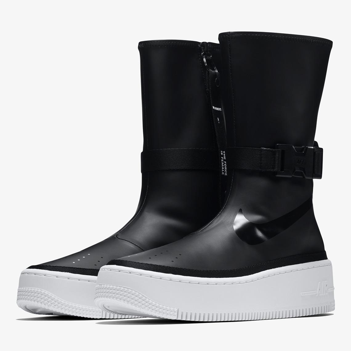 Nike Air Force AF1 Sage Hi Black White