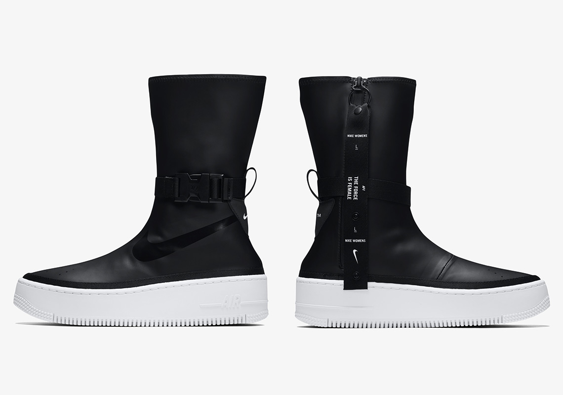 exclusive deals sneakers reasonable price Nike Air Force AF1 Sage Hi Black White Boot AQ2771-001 ...