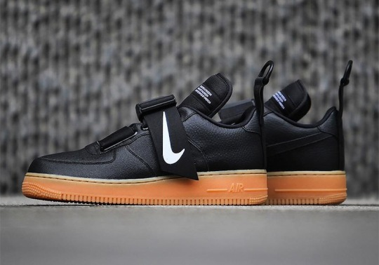 The Strapped Nike Air Force 1 Utility Is Coming Soon In Black And Gum